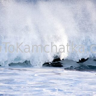 Kamchatka. Pacific Ocean waves