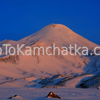 Kamchatka. Avachinsky volcano. Winter