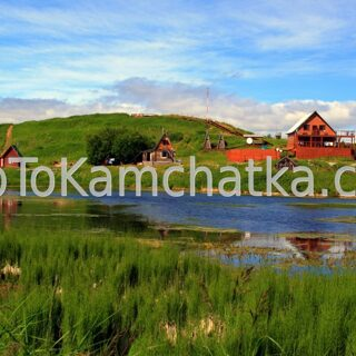 Kamchatka. Base on the Kurile lake