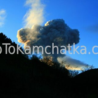 Kamchatka. Eruption of Karymsky Volcano