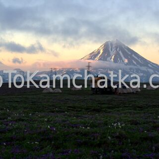Kamchatka. Camp near the Vilyuchinsky Volcano