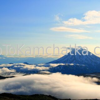 Kamchatka. Vilyuchinsky Volcano. View from slopes of Gorely volcano