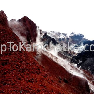Kamchatka. The crater of Avachinsky volcano