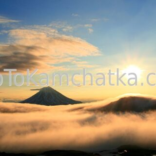 Kamchatka. Vilyuchinsky volcano. Sunrise