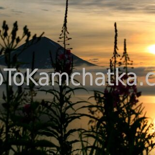 Kamchatka. Kurile Lake. Sunset