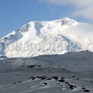 Kamchatka. Fresh ash from the  Klyuchevskoy volcano. Tours to the Klyuchevskoy volcano