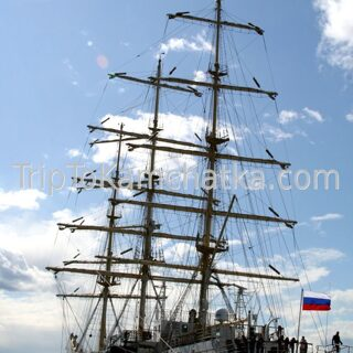 Kamchatka. Sailing ship Pallada