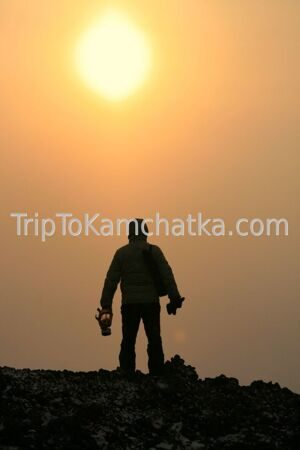 Kamchatka. On a lava flow. Eruption of the Plosky Tolbachik volcano 2012. Tours to the Tolbachik volcano