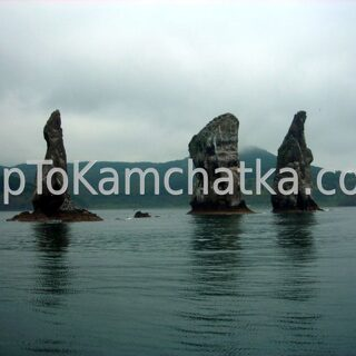 Kamchatka. Avacha Bay. Three Brothers sea stacks