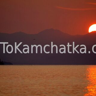 Kamchatka. Avacha Bay. Sunset