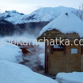 Kamchatka. Nalychevo Nature Park. Hot springs. Winter tours in Kamchatka