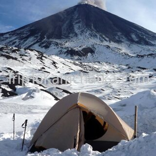 Kamchatka. Overnight under the Klyuchevskoy volcano. Tours to the Klyuchevskoy volcano