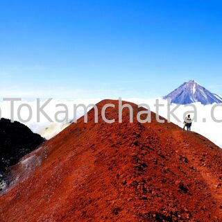 Kamchatka. In the crater of Avachinsky volcano
