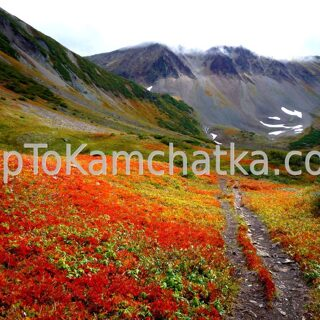 Kamchatka. Vachkazhets in the fall