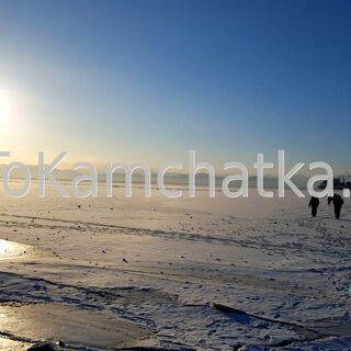 Kamchatka. Avacha Bay in winter