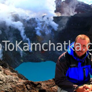 Kamchatka. In the crater of Gorely volcano